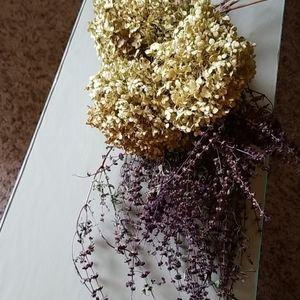 Real dried hydrangeas and thai basil